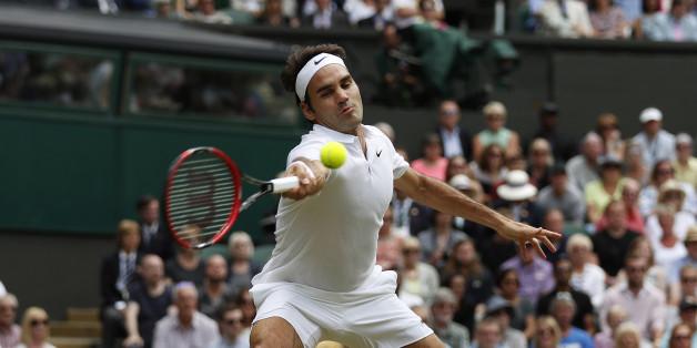 Roger Federer steht im Halbfinale der Tennis-Herren in Wimbledon