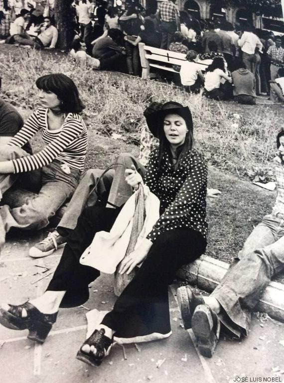 hippie camiseta lunares