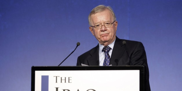 FILE - In this file photo dated Thursday, July 30, 2009, John Chilcot, the chairman of the Iraq Inquiry as the inquiry gets underway in London, looking at background details and the decision making process during the run-up to the Iraq War. The Iraq Inquiry announced Thursday May 29, 2014, that its report has been delayed for several years by negotiations over the inclusion of classified material including details of exchanges between Britain's then-Prime Minister Tony Blair and U.S. President George W. Bush, before the invasion of Iraq, but the full versions of the conversations will remain secret. Although today's announcement made clear that the British inquiry into decisions and mistakes in the planning and execution of the war will be made public, it is still unclear when Chilcot's report will be released. (AP Photo/Matt Dunham, FILE)