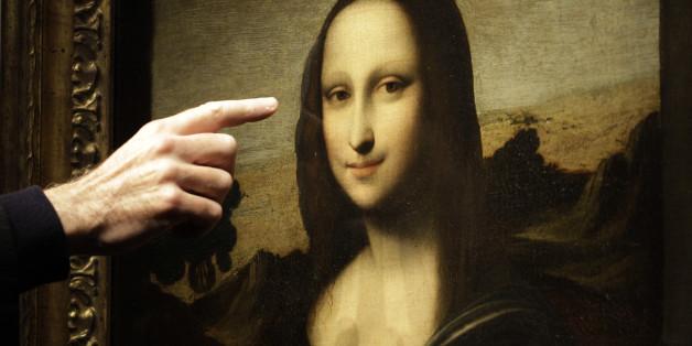 In Mona Lisas Augen ist eine Buchstabenkombination versteckt