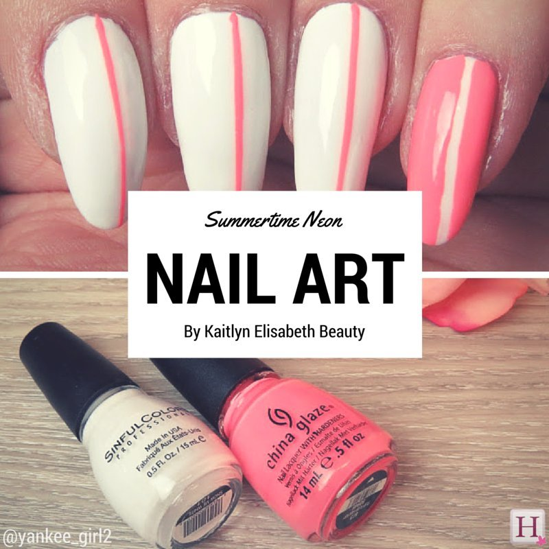 Nail Art: A Simple Neon Design That\'s Perfect For Summer