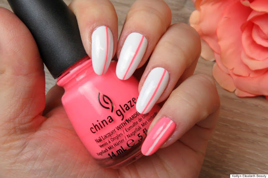 Nail Art A Simple Neon Design Thats Perfect For Summer