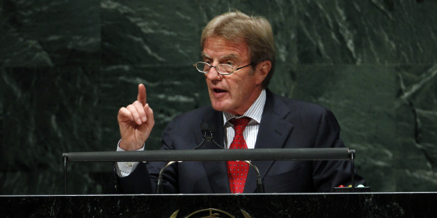 France's Foreign Minister Bernard Kouchner addresses the 65th session of the United Nations General Assembly at the U.N. headquarters in New York September 27, 2010. REUTERS/Jessica Rinaldi (UNITED STATES - Tags: POLITICS)
