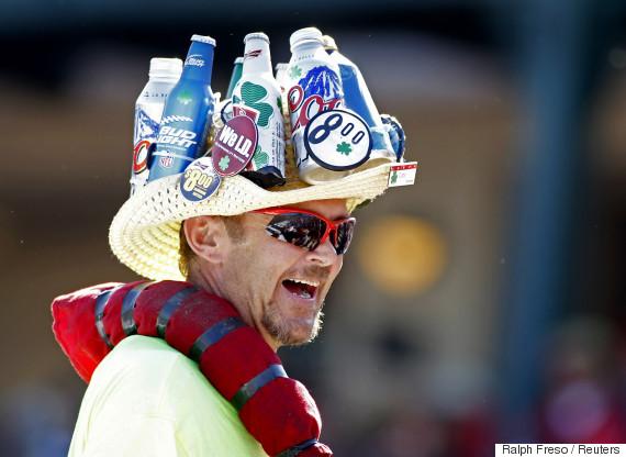 baseball beer vendor