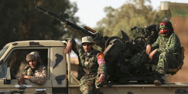 Forces armées pro-gouvernement libyen, Benghazi, février 2015