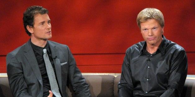 Jens Lehmann (l.) und Oliver Kahn treffen in einer TV-Show im Dezember 2008 aufeinander