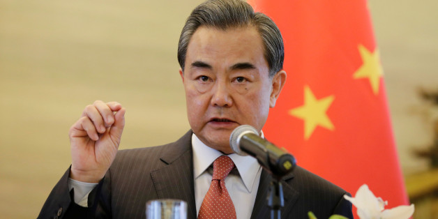 """FILE - In this April 28, 2016, file photo, China's Foreign Minister Wang Yi speaks during a foreign ministers' meeting of the Conference on Interaction and Confidence Building Measures in Asia (CICA) in Beijing. Continuing Beijing's push to ease concerns about its assertions of sovereignty over the South China Sea, Wang told his Southeast Asian counterparts that both sides should take a """"long-term perspective"""" as they try to solve their disputes. Wang Yi's comments Tuesday un"""