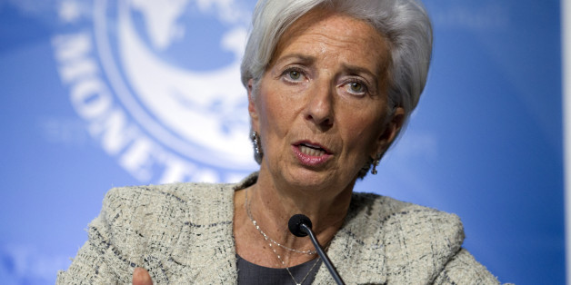 International Monetary Fund (IMF) Managing Director Christine Lagarde speaks at a news conference during the the G5 Ministers of Finance meeting during the World Bank/IMF Spring Meetings in Washington, Thursday, April 14, 2016. ( AP Photo/Jose Luis Magana)