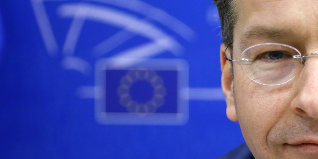 Eurogroup Chairman and Dutch Finance Minister Jeroen Dijsselbloem waits to testify before the European Parliament's Economic and Monetary Affairs Committee in Brussels February 24, 2015. Euro zone ministers could consider further debt relief measures for Greece if the country meets all the criteria specified in the NOvember 2012 decision of euro zone finance ministers, Dijsselbloem said on Tuesday.   REUTERS/Francois Lenoir (BELGIUM - Tags: POLITICS BUSINESS PROFILE TPX IMAGES OF THE DAY)