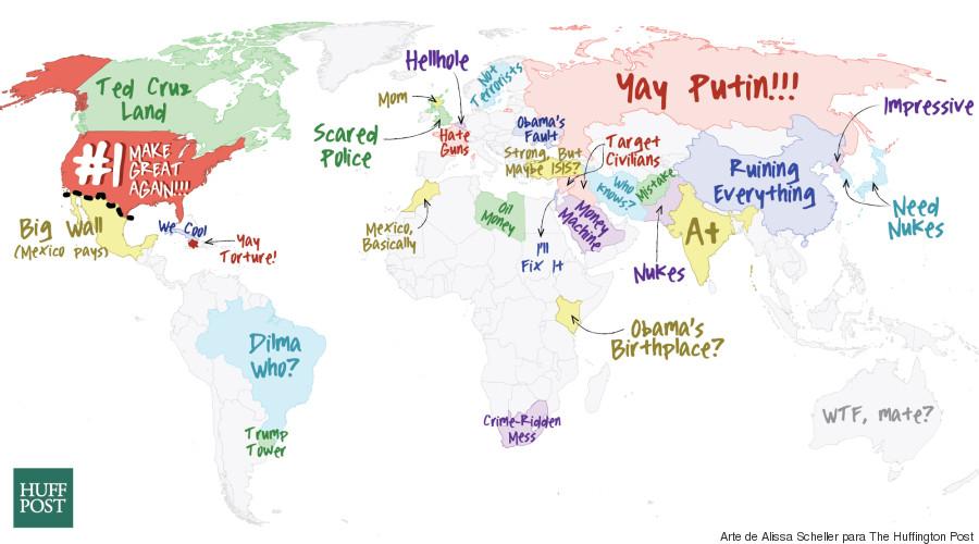 mapa trump