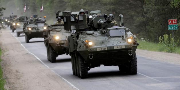 U.S. Truppen bei einer Übung in Litauen.
