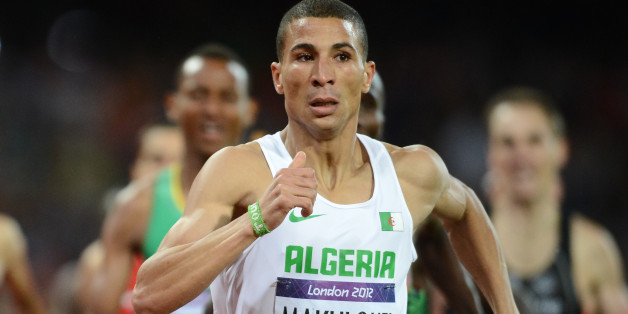Algeria's Taoufik Makhloufi competes in the men's 1500m final at the athletics event during the London 2012 Olympic Games on August 7, 2012 in London.  AFP PHOTO / FRANCK FIFE        (Photo credit should read FRANCK FIFE/AFP/GettyImages)