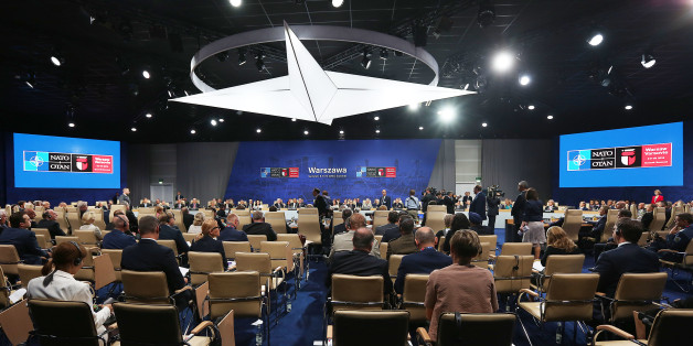 State leaders attend a working session at the NATO summit in Warsaw, Poland, Saturday, July 9, 2016. U.S. President Barack Obama and other NATO leaders have begun the second day of a summit meeting in Warsaw that's expected to lead to decisions about Afghanistan, the central Mediterranean and Iraq. (AP Photo/Czarek Sokolowski)