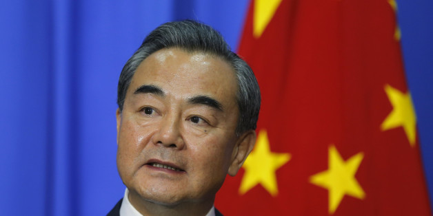 Chinese Foreign Minister Wang Yi speaks to the media after a meeting with his Sri Lankan counterpart in Colombo, Sri Lanka, Friday, July 8, 2016. Wang is in the country to hold bilateral talks with Sri Lankan leaders. (AP Photo/Eranga Jayawardena)