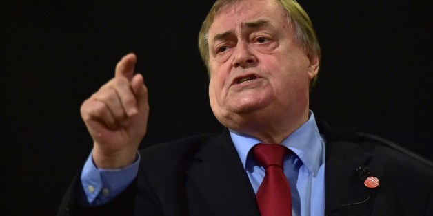Former Labour Party deputy Prime Minister John Prescott speaks at a campaign event for Andy Burnham, Labour party leadership candidate in London on August 24, 2015. New Labour leader Andy Burnham may look like a fresh-faced university graduate, but party insiders have called him 'a living example' of ambition, a reputation borne out by his political track record.  AFP PHOTO/Leon Neal        (Photo credit should read LEON NEAL/AFP/Getty Images)