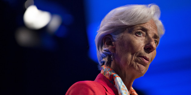 Christine Lagarde, managing director of the International Monetary Fund (IMF), speaks during a Michel Camdessus Central Banking Lecture at the IMF in Washington, D.C., U.S., on Friday, June 24, 2016. The IMF strongly supports commitments by the Bank of England and European Central Bank to supply liquidity to the banking system and curtail financial volatility Lagarde said in a statement following Britains vote to leave the European Union. Photographer: Andrew Harrer/Bloomberg via Getty Images