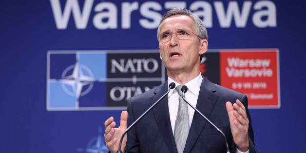 NATO Secretary General Jens Stoltenberg speaks at a news conference during the NATO Summit in Warsaw, Poland, July 9, 2016. Agencja Gazeta/Adam Stepien/via REUTERS    ATTENTION EDITORS - THIS IMAGE HAS BEEN SUPPLIED BY A THIRD PARTY. POLAND OUT. NO COMMERCIAL OR EDITORIAL SALES IN POLAND.
