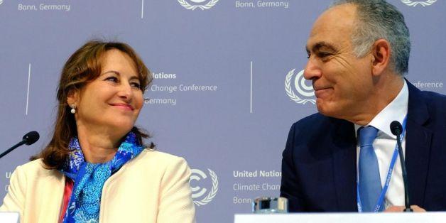 Ségolène Royal, présidente de la COP21, avec Salaheddine Mezouar, président de la COP22
