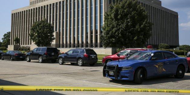 In diesem Gerichtsgebäude in der US-Stadt Michigan starben drei Menschen bei einer Schießerei