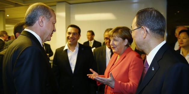 Angela Merkel mit dem türkischen Präsidenten Recep Tayyip Erdogan