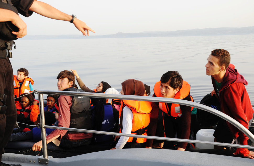 rescue of refugees on a raft