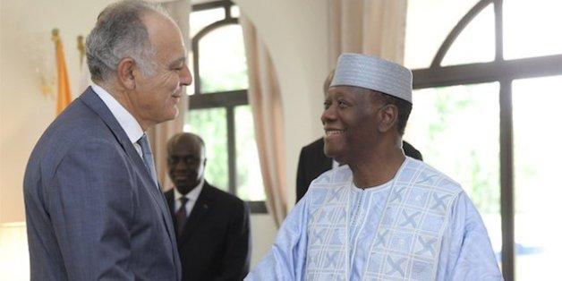 Salaheddine Mezouar et Alassane Ouattara, samedi 2 juillet