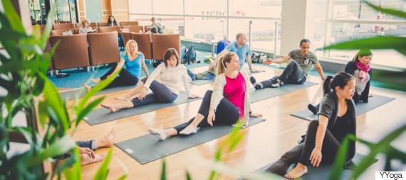 yvr airport yoga
