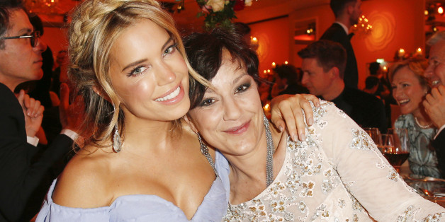 BERLIN, GERMANY - APRIL 30: Sylvie Meis and Miriam Pielhau during the Rosenball 2016 on April 30, 2016 in Berlin, Germany. (Photo by Isa Foltin/Getty Images for Bertelsmann)