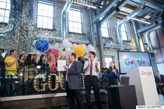 trudeau google waterloo