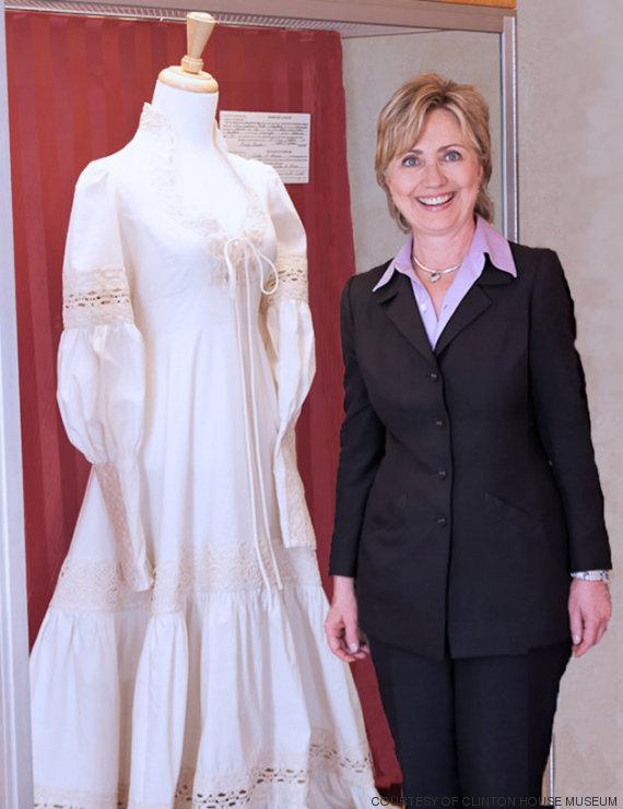 hillary clinton wedding dress