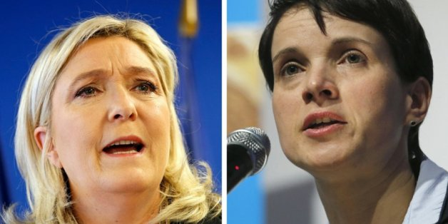 Marine Le Pen (Front National) und Frauke Petry (AfD)