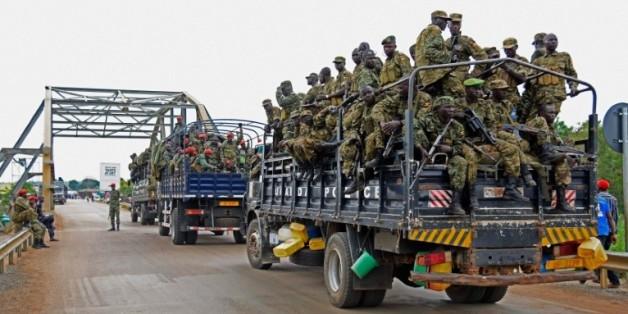 L'armée ougandaise en direction de Juba, capitale du Sud-Soudan, le 14 juillet 2016
