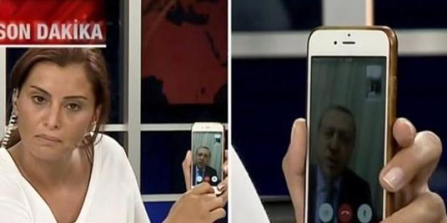 """""""Sie werden keinen Erfolg haben"""": Erdogans merkwürdiger TV-Auftritt via Smartphone"""