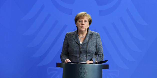 German Chancellor Angela Merkel gives a statement on the military coup attempt against President Recep Tayyip Erdogan, on July 16, 2016 in Berlin. Germany said democratic institutions in Turkey 'must be respected', as a military coup against President Recep Tayyip Erdogan was under way, the spokesman for Chancellor Angela Merkel said Saturday. / AFP / John MACDOUGALL        (Photo credit should read JOHN MACDOUGALL/AFP/Getty Images)