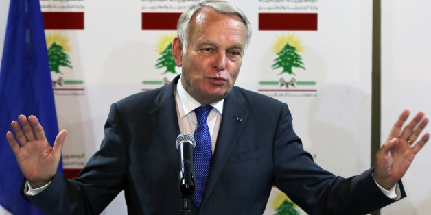 French Foreign Minister Jean-Marc Ayrault, speaks to journalists during a joint press conference with his Lebanese counterpart Gibran Bassil, at the Lebanese foreign ministry in Beirut, Lebanon, Tuesday, July 12, 2016. Ayrault said his country will do everything it can to help Lebanon emerge from its political stalemate. (AP Photo/Bilal Hussein)