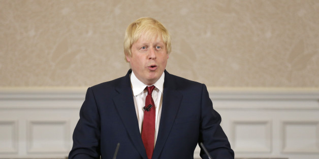 Former London mayor Boris Johnson announces that he will not run for  leadership of Britain's ruling Conservative Party in London, Thursday, June 30, 2016. The battle to succeed Prime Minister David Cameron as Conservative Party leader has drawn strong contenders with the winner set to become prime minister and play a vital role in shaping Britain's relationship with the European Union after last week's Brexit vote. (AP Photo/Matt Dunham)