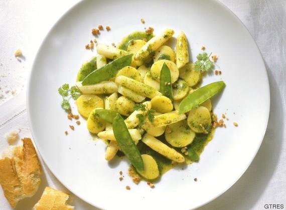 ensalada de patata y espárrago verde