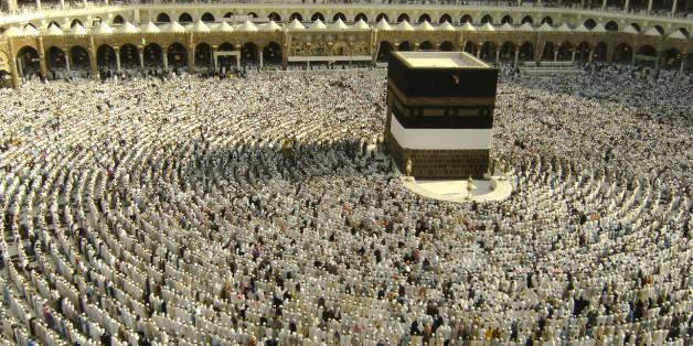 Muslim pilgrims getting ready for Asar prayer at Makkah Al Mukarramah.