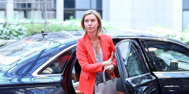 BRUSSELS, BELGIUM - JULY 18: High Representative of the European Union for Foreign Affairs and Security Policy and the Vice President of the European Commission, Federica Mogherini arrives to EU Foreign Ministers' meeting in Brussels, Belgium on July 18, 2016.    (Photo by Dursun Aydemir/Anadolu Agency/Getty Images)