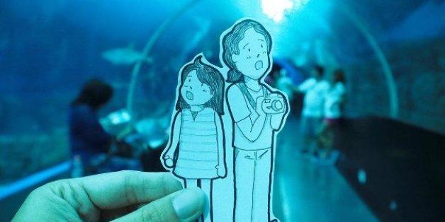 Ce couple remplace les selfies par des dessins pendant leurs voyages