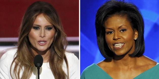 Melania Trump wird beschuldigt, Teile einer Rede der amtierenden First Lady Michelle Obama aus dem Jahr 2008 kopiert zu haben