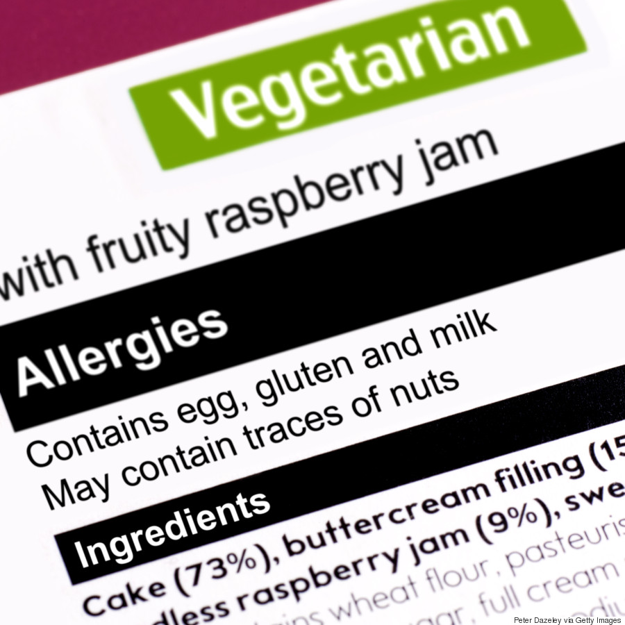 food allergy label