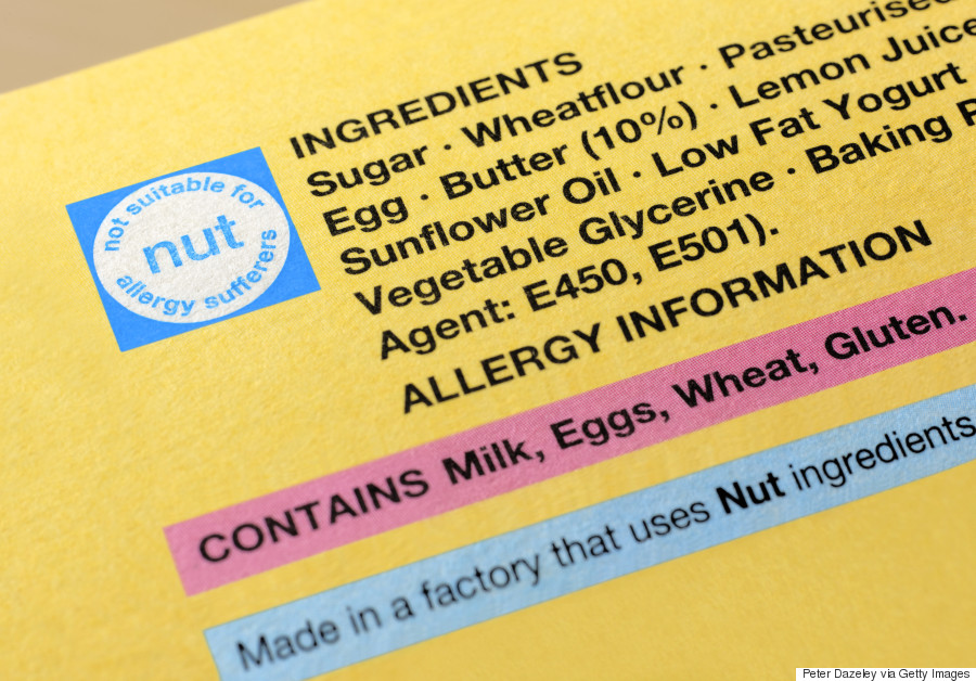 Image result for food labels for allergy