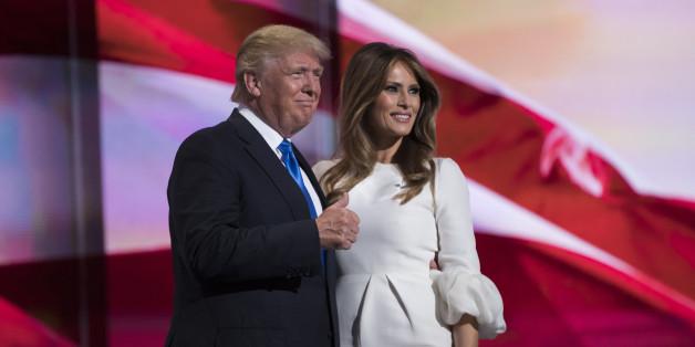 Der Präsidentschaftskandidat Donald Trump mit seiner Frau Melania