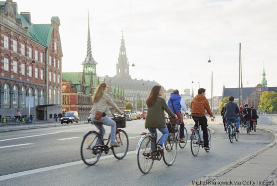 biking people
