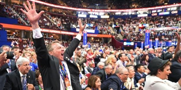 Les délégués de la Convention républicaine le 19 juillet 2016 à Cleveland