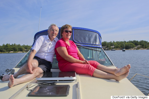 muskoka mature couple