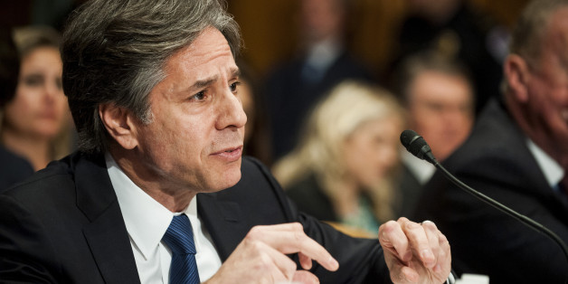 Antony Blinken, U.S. Deputy Secretary of State, testifies at a Senate Appropriations subcommittee hearing in Washington, D.C., U.S.,  on Tuesday, April 12, 2016. The hearing looked at the impact of violent extremism and the role of foreign aid. Photographer: Pete Marovich/Bloomberg via Getty Images