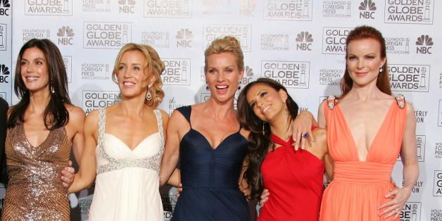 """""""Desperate Housewives""""-Star Nicollette Sheridan (hier in der Mitte von Teri Hatcher, Felicity Huffman, Eva Longoria und Marcia Cross) hat sich scheiden lassen. Bis dahin wusste niemand, dass sie verheiratet war"""