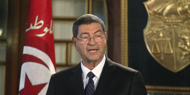 Tunisia's nominated prime minister Habib Essid speaks during his news conference, following a meeting with President Beji Caid Essebsi, in Tunis January 23, 2015. Essid said on Friday he had formed his new government after negotiations among secular party Nidaa Tounes and other smaller partners in the parliament, but without any posts appointed to Islamist party Ennahda. REUTERS/Zoubeir Souissi (TUNISIA - Tags: POLITICS)